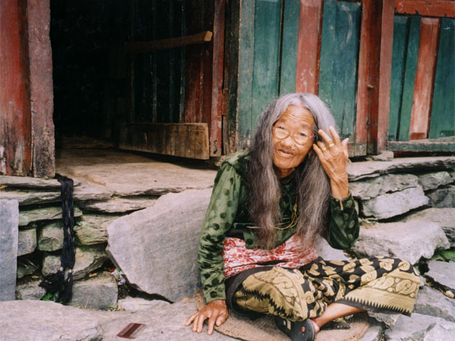 The oldest women in the village